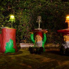 Carnevale Dolo Spazio Luce Un Giardino ad Arte dipinto-giardino Miro' KartellOUTDOOR Attila Napoleon Philippe Starck
